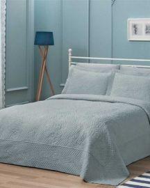 Nora Çift Kişilik Yatak Örtüsü - Mavi