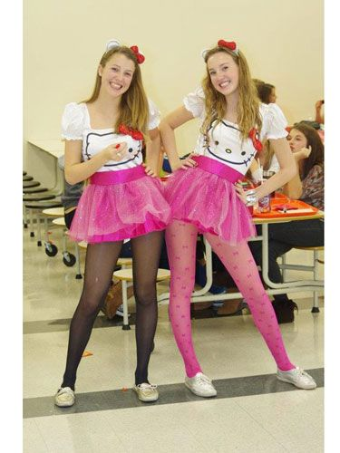 """My best friend and I were Hello Kitty last Halloween!"" —Rosalie, 17, Quebec   - Seventeen.com:"