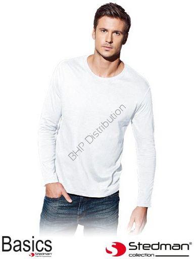 Biała koszulka z długim rękawem ST2500_WHI