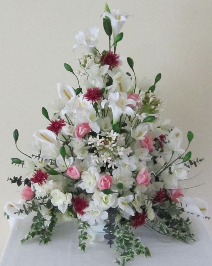 Artificial Floral Arrangements For Interior Decor: White Artificial Floral Arrangements Idea For Floral Interior Accent