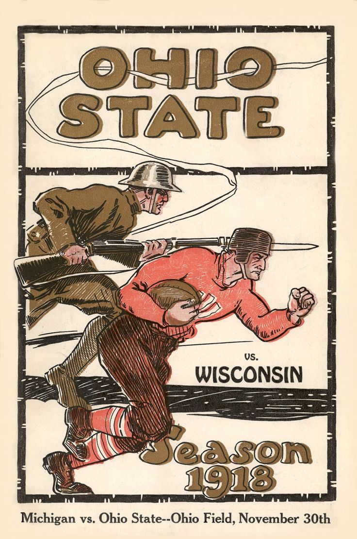 COLLEGE FOOTBALL: Ohio State vs. Wisconsin, 1918.