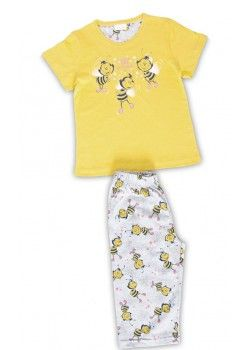 Pijama capri copii Bee Lovely