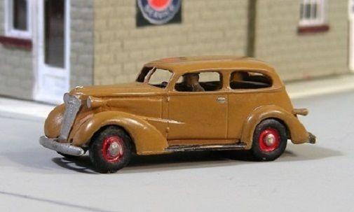 HO 1/87 Sylvan Scale Models # V-010 1937 Two Door Slopeback Sedan  KIT #SylvanScaleModels