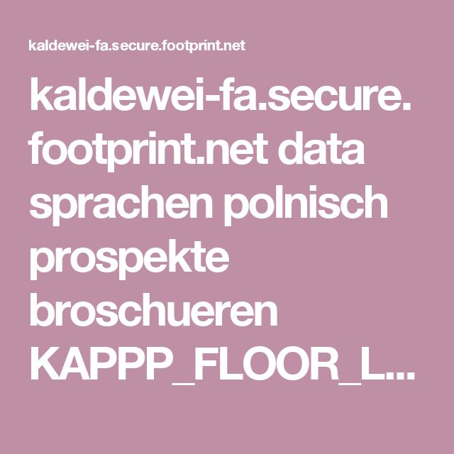kaldewei-fa.secure.footprint.net data sprachen polnisch prospekte broschueren KAPPP_FLOOR_LEVEL_SHOWERS______.pdf