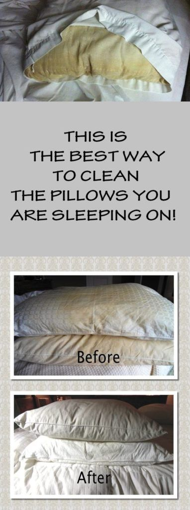 THIS IS THE BEST WAY TO CLEAN THE PILLOWS YOU ARE SLEEPING ON!
