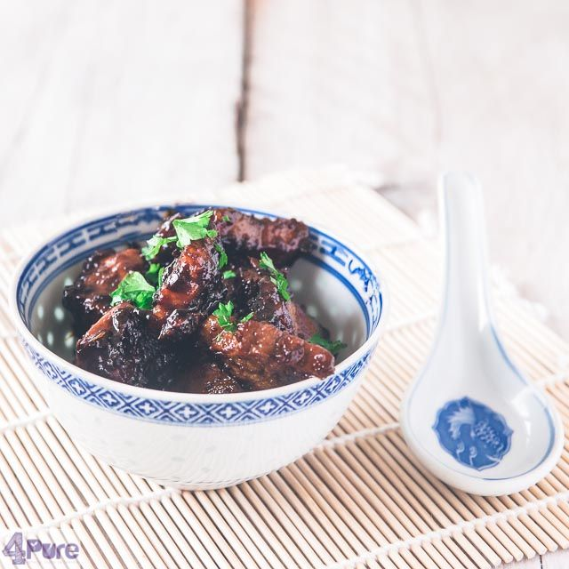Pork in soy sauce   - English recipe - A delicious recipe for pork in soy sauce, called babi ketjap in Dutch. The meat is tender and got a great sweat flavor. Delicious with white rice and a green salad.