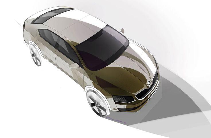 Skoda Octavia - Design Sketch - Car Body Design