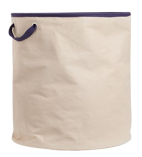 Buy My Gift Booth Navy Blue Canvas Laundry Hamper Online - Laundry Baskets - Laundry - Pepperfry