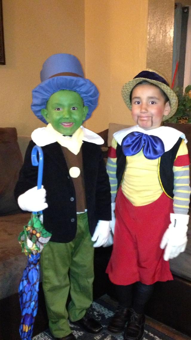 Jiminy Cricket and Pinocchio Costume Pinterest Jiminy