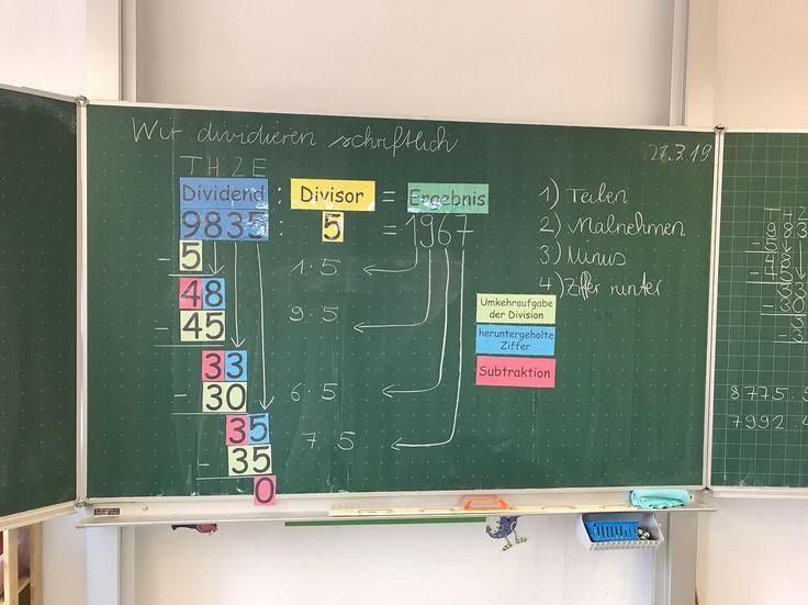 Heute haben wir die schriftliche Division gelernt….