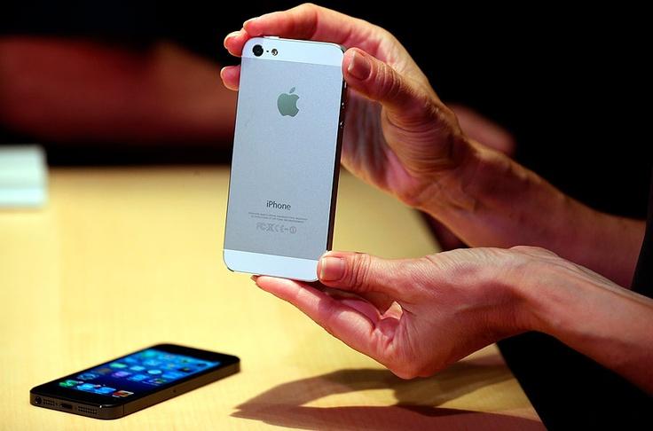 Vista trasera del iPhone 5.