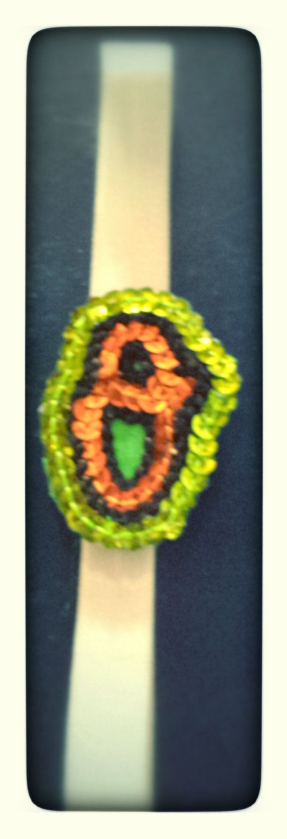 Sequin orange and green Oriole's O opening day/ St. by HeadQuase, $10.00
