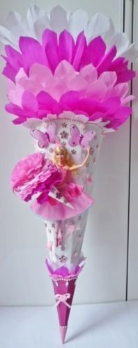 TRENDY-LUXUS-DESIGN-SCHMETTERLINGS-PRINZESSIN-BALLERINA-BARBIE-UNIKAT-SCHULTUTE