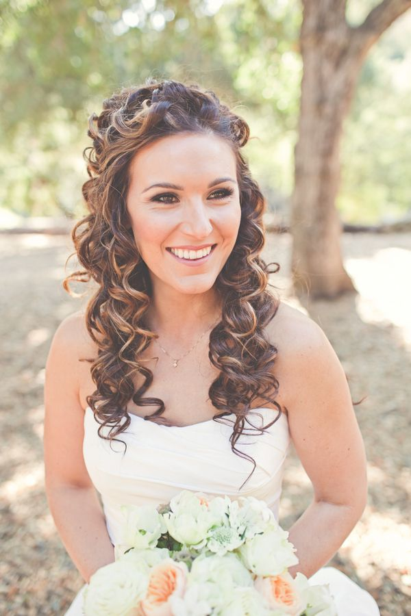This one is pretty, romantic and a little more me. I think I would have the curls looser though.