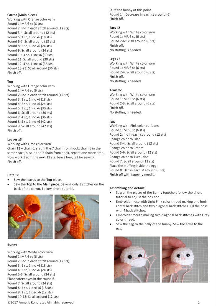 Mejores 72 imágenes de amigurumi en Pinterest | Patrones amigurumi ...
