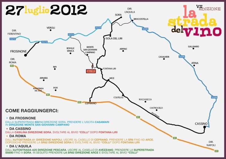 """""""La Strada Del Vino"""" - MAP - © Gianfranco Nicoletti 2012"""
