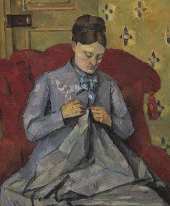 Portrait Of The Artist's Wife by Paul Cezanne