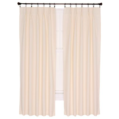 Ellis Curtain Crosby Natural Thermal Insulated 48 By 84 Inch Pinch Pleated  Foamback Curtains