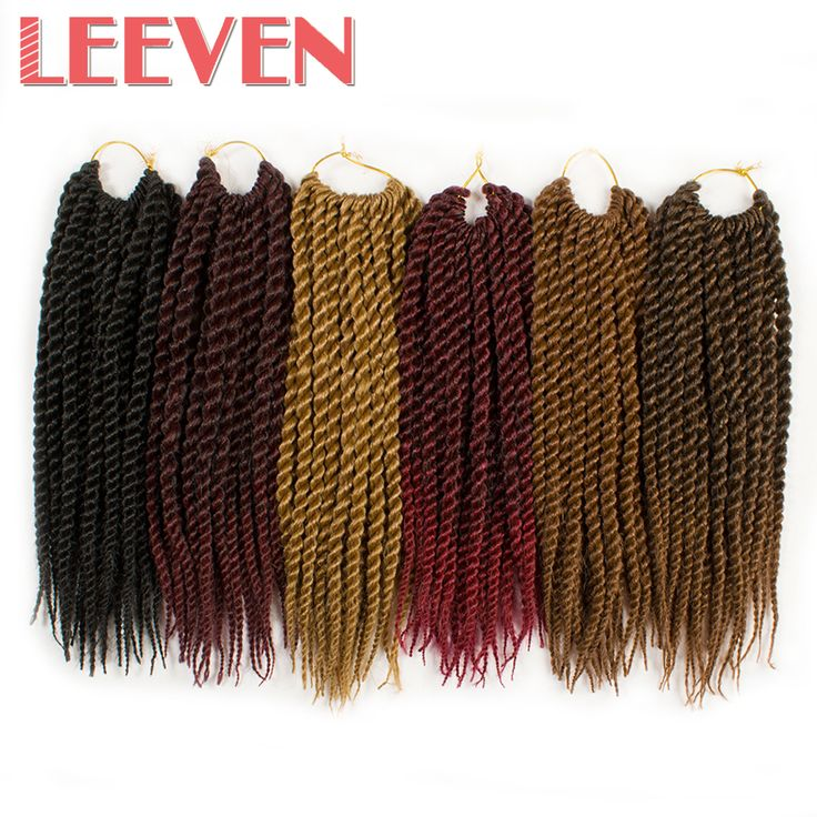 Leeven Senegalese Twist Crochet Braid hair Ombre synthetic Braiding Hair Extensions High Temperature Fiber 7pcs/lot 12''22roots  #Affiliate