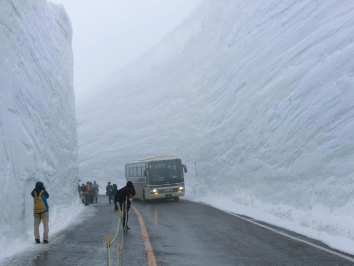 20 meters of snowfall in Hokkaido, Japan