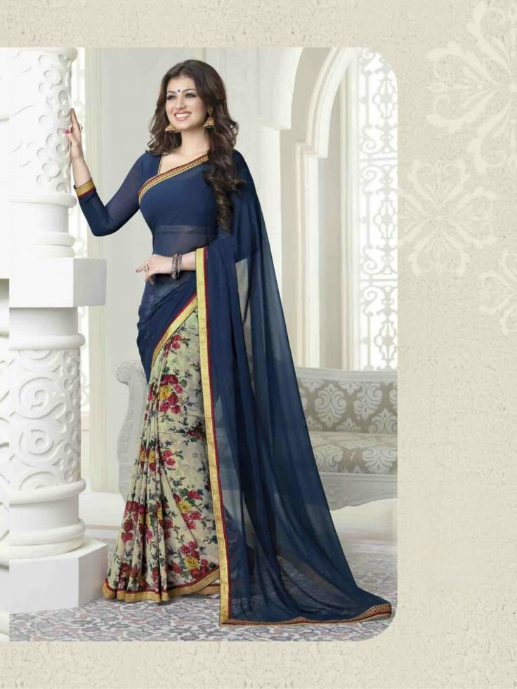 Ayesha Blue Color Pallu saree- Indiana Lifestyle Online Shopping