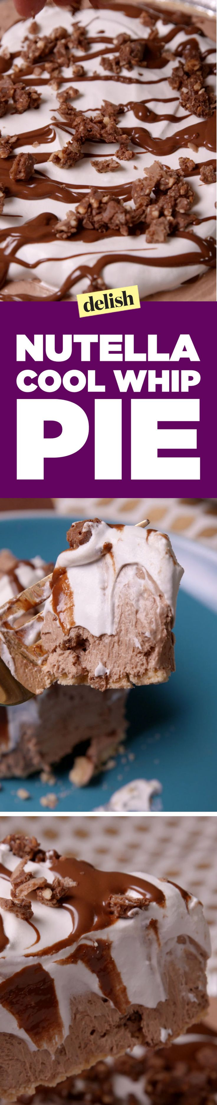 Nutella Cool Whip Pie