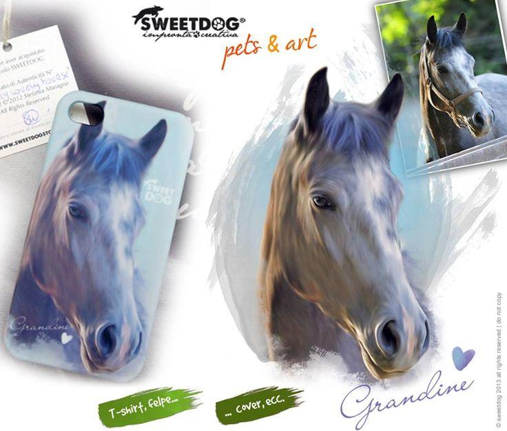 Horse: GRANDINE - personalized iPhone cover - cover personalizzata con il tuo cavallo | https://www.facebook.com/SweetDogStore