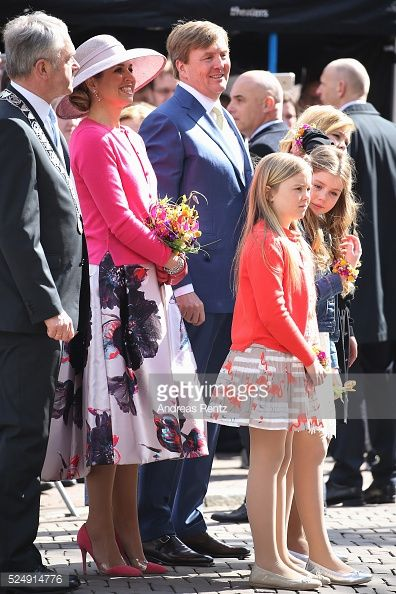 Royal Family at King's Day in Zwolle. April 27, 2016.