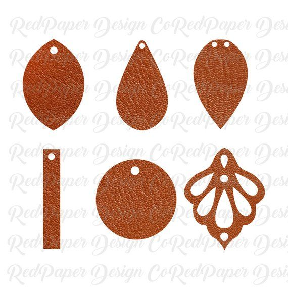 Faux Leather Earring Template