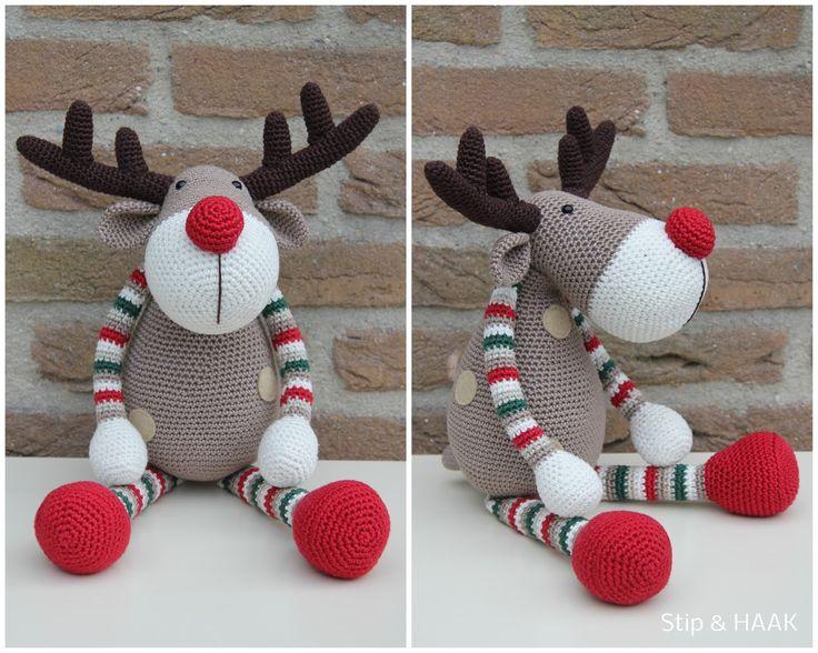 En hier is hij dan... Rendier Ralf! Nog even en het is weer kerst en Ralf is er helemaal klaar...