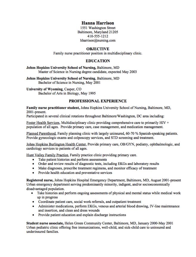 free nurse practitioner resume templates