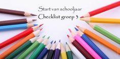 Wil jij het schooljaar goed ingericht starten in groep 3? Hier een checklist of je wel echt aan alles hebt gedacht.
