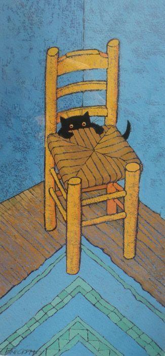 TONI GOFFE  |  Le Chat Van Gogh Simplemente fantástico.