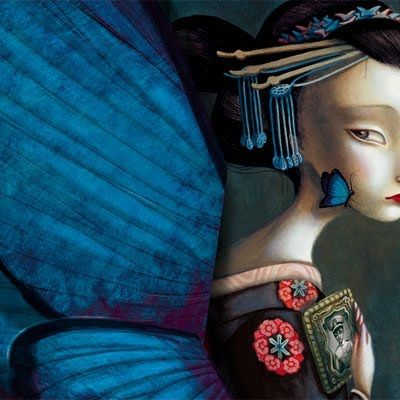 Detail from Madame Butterfly illustration by Benjamin Lacombe