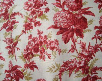 Anna Griffin Jolie Chrysanthemum  in red 1 yard