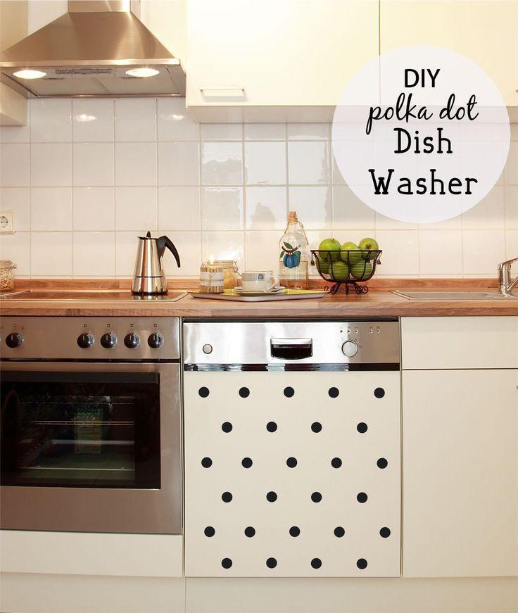 Kitchen Decals - Polka Dot Decals - Kitchen Wall Decals - Dishwasher Decal…