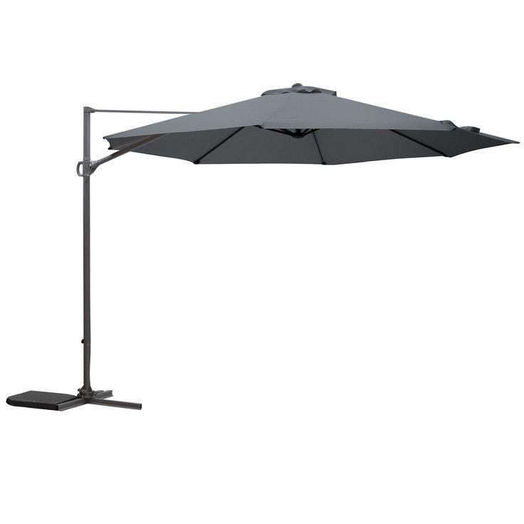Mallorca 3.5m Grey Overhanging Parasol   Departments   DIY at B&Q