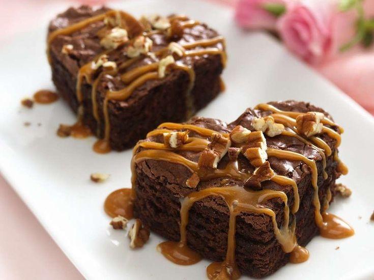 Brownies con caramello e noci