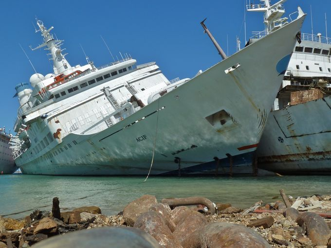 In August of 2013, one of the world's most cherished cruise ships barely limped into a Turkish scrapyard after developing a leak and taking on a severe list while under tow from Genoa, Italy. m TV Love Boat
