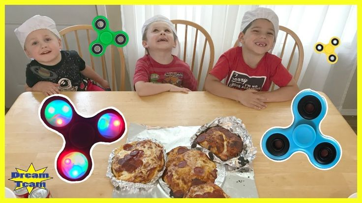 DIY GIANT FIDGET SPINNER PIZZA With Bad Kids Fidget Spinner Toys With Th...