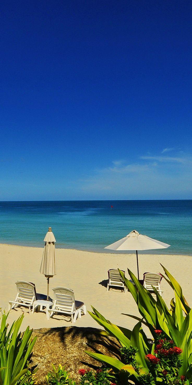 beach front view at Poppies Samui Resort, Chaweng Beach, Koh Samui, Thailand