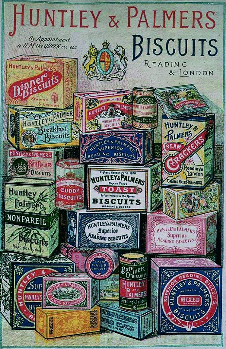 HUNTLEY AND PALMER BISCUIT TINS - ADVERT Bing Images