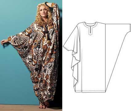 Střih - Turecké šaty (inspirace)