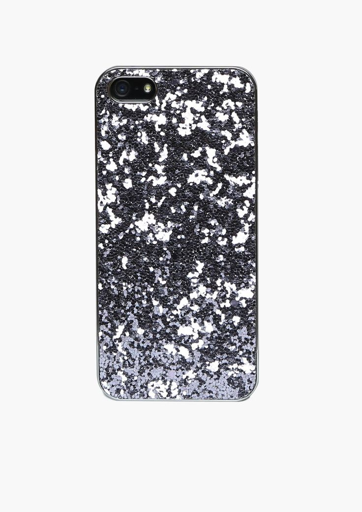 Glitter iPhone 5 Case in Charcoal