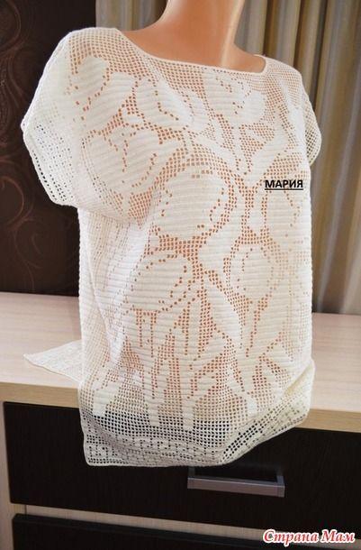 Филейное вязание. Туника - Вязание - Страна Мам