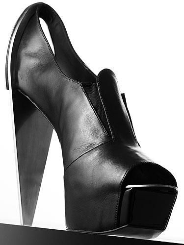 Black Leather Bootie.I got image from ShoeHotLine.