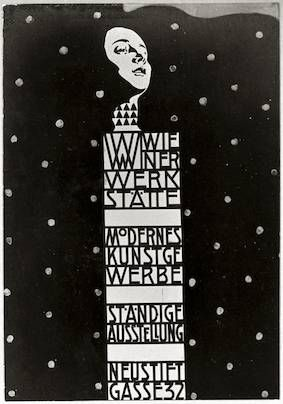 Vienna Arts and Crafts Exhibition poster for Wiener Werkstatte by Koloman Moser, 1904: