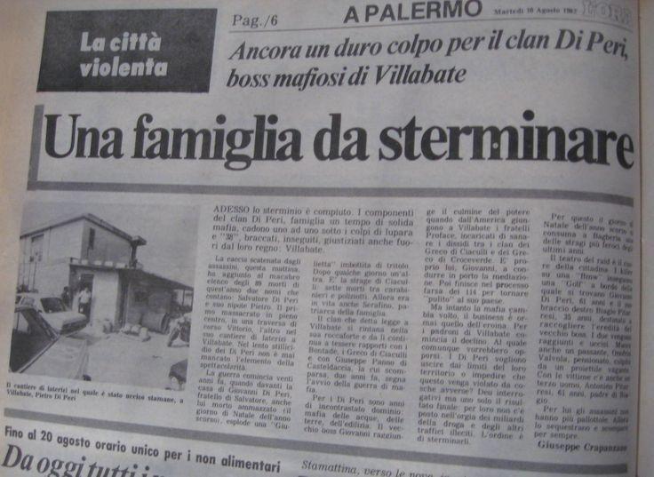 10 agosto 1982, L'Ora, articoli