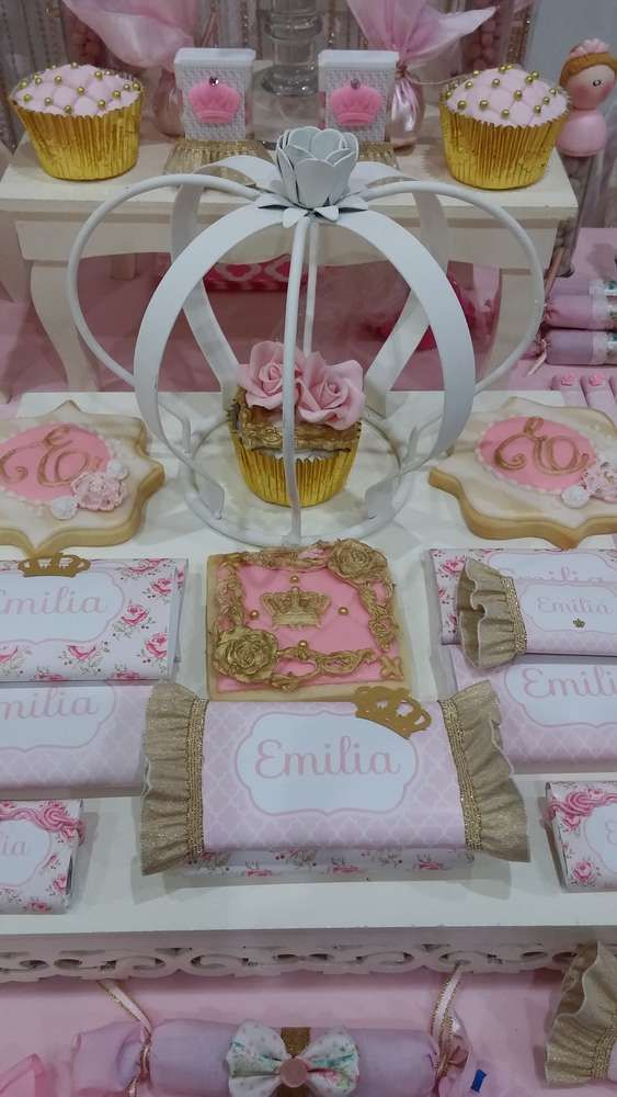 Sweets at a princess birthday party! See more party ideas at CatchMyParty.com!