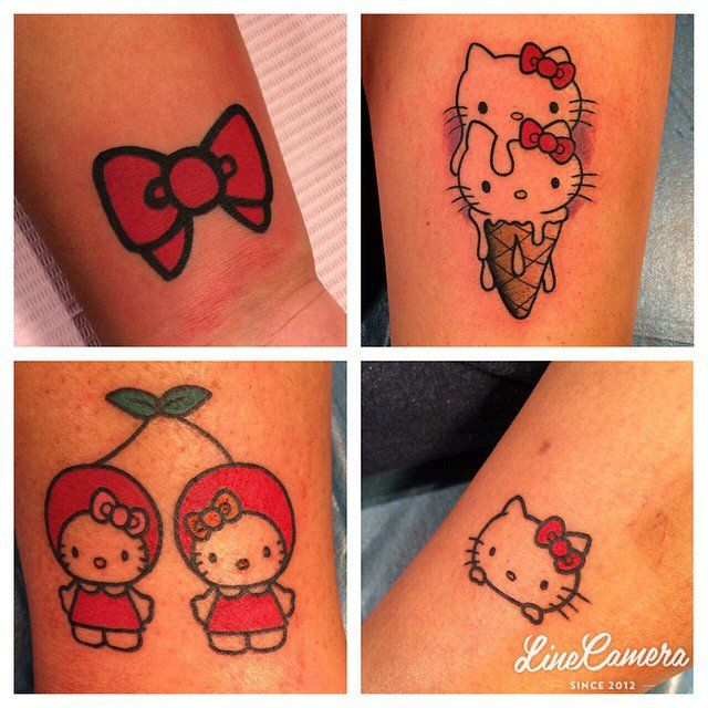 Pin for Later: Hello Kitty Con Is the Cutest Freaking Convention on Earth Hello Kitty Tattoos